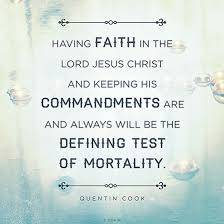 Lds Quotes On Faith Adorable Defining Test Of Mortality