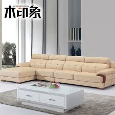get ations wood impression minimalist modern cowhide leather sofa chaise about wood leather sofa leather sofa corner sofa
