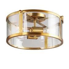 brooklyn collection 2 light antique brass flushmount