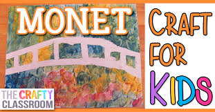 claude monet is well known for his beautiful water scenes this is a fun and messy finger painting craft that will leave children with beautiful results