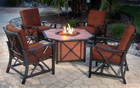 attractive fire pit table with chairs with outdoor patio table with fire pit hampton bay redwood valley 5