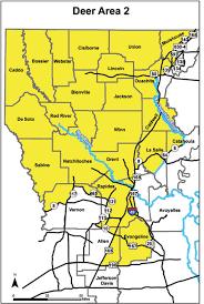 Pa Hunting Hours Chart Deer Hunting Area 2 Louisiana Hunting Seasons