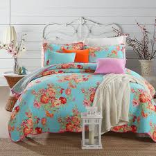quilted bed covers. Perfect Bed Floral Print Bedspread Queen Size Quilted Cotton Coverlet Bed Cover Set  Summer Comforter Blanket Pillowcases Egyptian Bedding Twin Duvet  And Covers