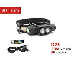 Đèn đội đầu SOFIRN D25 độ sáng 1100lm sạc USB 1 pin 18650 (kèm theo) Bán đèn  pin siêu sáng, đèn chuyên dụng chất lượng cao