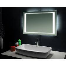 lighted bathroom mirrors home bathroom contemporary bathroom. Modern Bathroom Mirror. Large Size Of Home Designs:modern Mirrors Rectangle Backlit Mirror Lighted Contemporary O