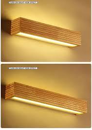 Dx Modern Wood Wall Lights Bathroom Mirror Lamp Hallway Wandlamp Bed