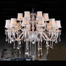 huge 18 light fabric shade twig modern crystal chandeliers