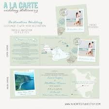 Beach Destination Wedding Invitation Tri Fold Invitation
