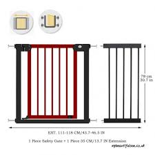 fairy baby wooden gates pressure fit safety gate baby fence stair gate reddish brown timber and