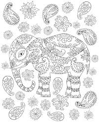 Free Elephant Coloring Pages Pattern Chronicles Network