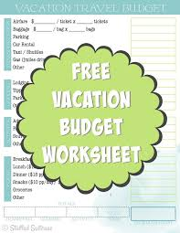 Trip Planner Gas Cost Create A Travel Budget Vacation Cost Worksheet Best Of