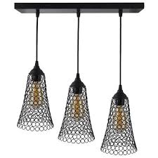 contemporary metal 3 linear cer cone shaped hanging chandelier lamp