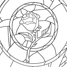 Beauty And The Beast Free Colouring Sheets Stained Glass Coloring
