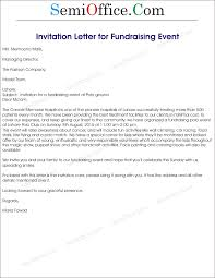 Fundraising Event Invitation Letter Sample Png