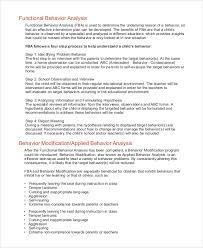 sample behavior analysis examples in pdf word functional behavior analysis
