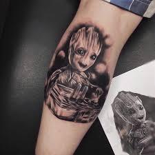фото тату грута в стиле марвел на голени парня фото рисунки эскизы