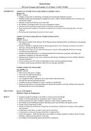 Sample Resume Of Store Manager Store Assistant Manager Resume Samples Velvet Jobs