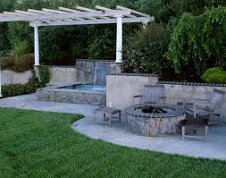 patio designs with fire pit and hot tub. Hot Tub Patio Ideas Entrancing Patios With Tubs Home Designs Fire Pit And S