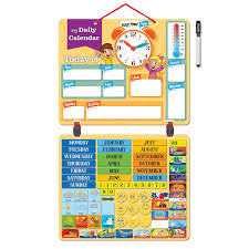 How To Make A School Calendar Kids Daily Calendar Magnetic Hang On Wall Or Fridge For Home Or School