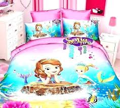 target mermaid bedding target single bed sheets twin bed sets for girls the first mermaid cartoon