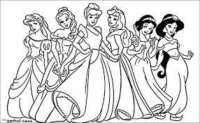 Princesses Coloring Pages Print Princess Disney Belle Colouring