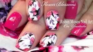 Robin Moses Nail Art: Spring Flower Bouquet Nail Art Design ...