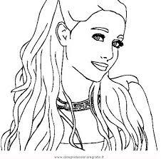 Disegno Ariana Grande Misti Da Colorare