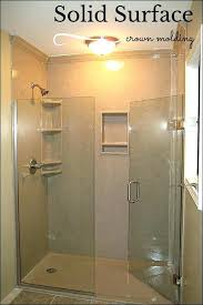 solid surface panel solid surface shower surrounds full size of aqua glass shower shower seal solid