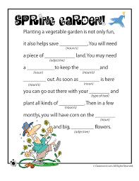 Spring Mad Libs - Spring Garden! - Woo! Jr. Kids Activities