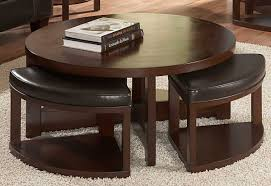 Diy Round Coffee Table Coffee Table Awesome With Seating Round Wood 4 Ottomans Ottoman