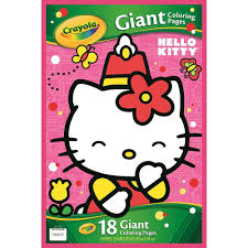 Small Picture Amazoncom Crayola Hello Kitty Giant Coloring Pages Toys Games