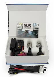 com hid xenon dc headlight slim conversion kit by sdx h13 dual beam bi xenon 6000k automotive