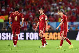 كأس العالم 2014: اسبانيا حاملة اللقب تودع المونديال بعد خسارتها أمام  التشيلي بهدفين دون رد - CNN Arabic