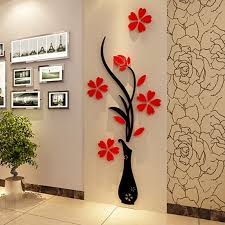 Small Picture 3D Plum Vase Wall Stickers home decor creative wall decals living