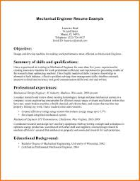 Mechanical Experience Resume Resume For Your Job Application