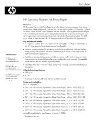 <b>HP Everyday Pigment Ink</b> Photo Paper