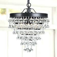 small bronze chandelier crystal and
