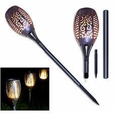 <b>Solar Flame</b> Lamp Flickering Waterproof <b>72LED</b> Garden Decoration ...