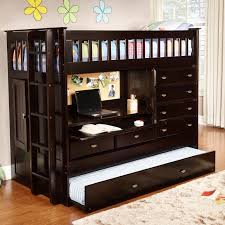 discovery world furniture all in one extra long twin bunk bed with trundle and storage