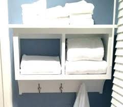 hanging towel storage bathroom wall mounted shelves