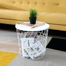 modern minimalism storage baskets living room furniture side table metal wire coffee tea primst multifunction refrigerator
