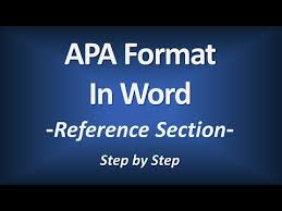 American Psychology Association Format Apa Format In Word Reference Section American Psychological