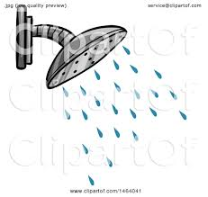 shower head clipart. Clipart Of A Shower Head - Royalty Free Vector Illustration By Graphics RF O