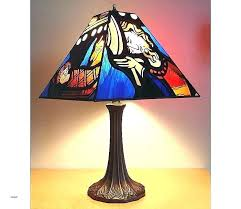stained glass replacement stained glass lamp shades 7 panel shade with table antique re