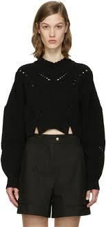 isabel marant black cropped gane sweater women isabel marant barneys uk