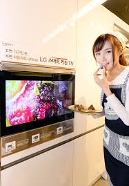 smart display for kitchen lg electronics and furniture firm hanssem will release a built in tv for the kitchen dubbed the smart kitchen tv