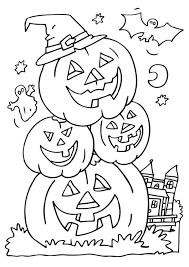 Disegno Da Colorare Zucche Di Halloween Cat 6503 Images