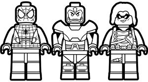 Small Picture Lego Spiderman vs Lego Apocalypse vs Lego Wasp Coloring Book