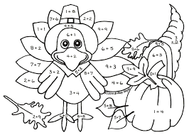 thanksgiving math coloring pages pdf addition coloring pages grade color worksheets with math for kindergarten colouring
