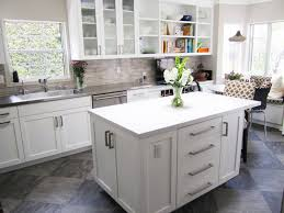 White Kitchen Tile Floor Brown Kitchen Cabinets With Grey Floor Quicuacom